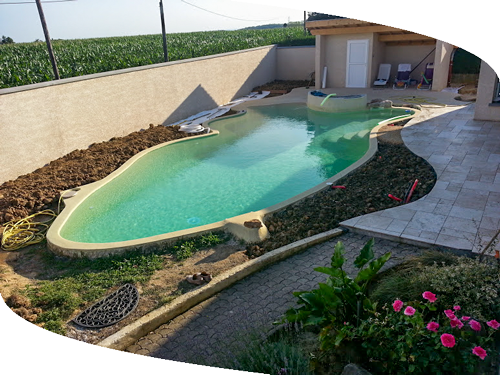 Cr ation piscine paysage concept - Taille standard piscine ...